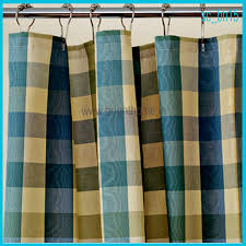 Green Checkered Curtains Home Textile Products Shower Curtains