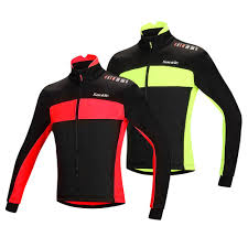mtb windproof jacket santic fleece thermal winter cycling jacket cotton coat sales