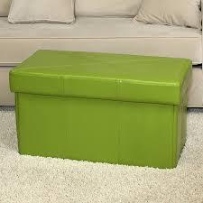 impressive green storage ottoman green microfiber storage ottoman
