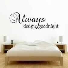 always kiss me goodnight wall sticker wall murals ideas always kiss me goodnight wall stickers