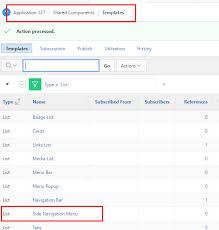 apex 5 0 universal theme side bar menu navigation default hide