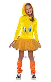 tweety pie bird girls fancy dress wb cartoon kids childs character