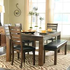 Dining Table With Bench With Back Dining Room Table Bench Canada Counter Height Designs With High