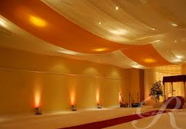 draped ceiling power to personalize your wedding decor idea ceiling draping