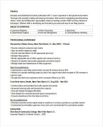Sample Of A Receptionist Resume by 10 Receptionist Resumes Free Sample Example Format Download