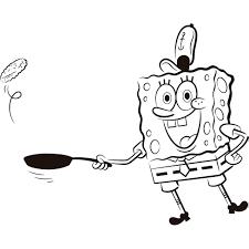 jeux de bob l 駱onge en cuisine coloriage bob l éponge cuisine à imprimer