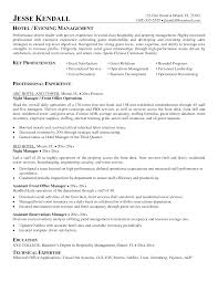 resume samples for hospitality industry conference centre manager