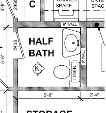 Powder Room Floor Plans by Real Life Experience With A Small Half Bath