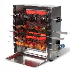 appareil de cuisine appareil de cuisson de brochette sis kebab 2 bruleurs
