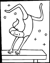 gymnastics coloring page olympics coloring pages gymnast on balance beam gymnastics