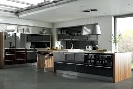 cuisine ultra moderne cuisine equipee noir moderne et aclacgante cuisine et bois