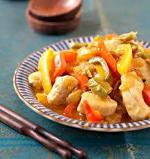 cuisiner le poivron curry de poulet aux trois poivrons les meilleures recettes de
