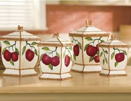 apple canisters for the kitchen 84 best apple kitchen decor images on apple kitchen