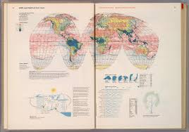 Map Of Ocean Currents World Annual Rainfall And Ocean Currents David Rumsey