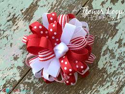 flower bow how to make a flower loop hair bow the ribbon retreat