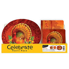 thanksgiving harvest pack plates and napkins 150 ct