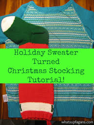 Homemade Christmas Stockings by Pinterest Find Easy Homemade Christmas Stockings From A Sweater