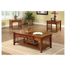 mission style dining room set sun pine 3pc berta mission style accent table set antique oak