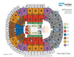 Key Arena Floor Plan Wwe Payback Sap Center