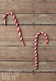 fabric scrap candy cane ornaments diycandy com