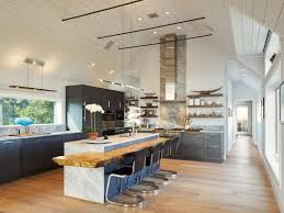 Houzz Ceilings by Spacious Kitchen Features High Ceilings A Marble Counter Top And