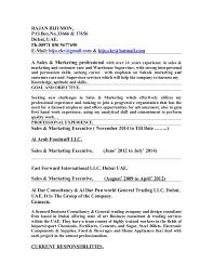 executive resume sles bijumon rajan sales executive resume 16