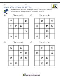 magic square worksheets
