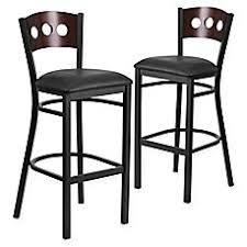 linon home decor products inc walt walnut gray bar stool porter stool in walnut bed bath beyond