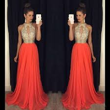 prom dresses 2016 high neck evening dresses cheap bridesmaid