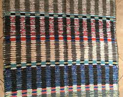 Swedish Plastic Woven Rugs Swedish Rag Rug Etsy