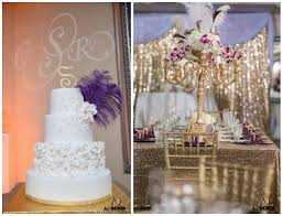 Sho Gatsby purple and gold glam great gatsby themed wedding the coordinated