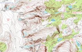 topographic map of the trail to flattop mountain and