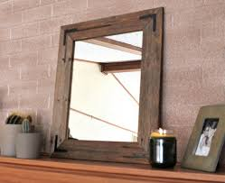 Wooden Bathroom Mirror Rustic Wall Mirror Wall Mirror 18 X 24 Vanity Mirror