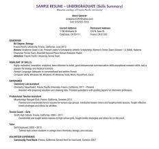 Graphic Designer Sample Resume by Undergraduate Resume Template Download A Resume Template
