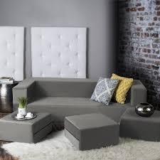 Ottoman Sleepers Zipcode Design Eugene Convertible Sleeper Sofa With Ottomans