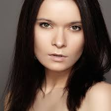 dark hair with grey models beautiful woman with dark middle hairstyle daily eye make up and