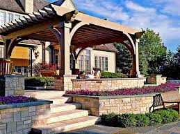 Different Types Of Pergolas by Pergola And Patio Cover Ideas Landscaping Network
