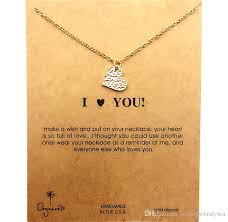 wholesale dogeared necklace with love i love you noble and