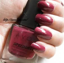 whats on your nails avon speed dry nail paint boysenberry