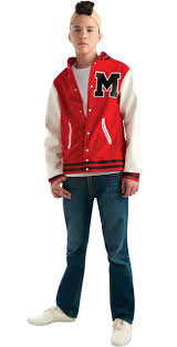 wilfred costume glee puck football player costume jacket glee costumes
