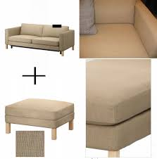 ikea karlstad sofa bed and footstool slipcover sofabed ottoman