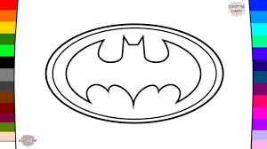 spiderman batman superman logo coloring pages youtube
