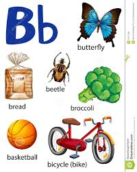 things that start with the letter b stock vector image 51271595