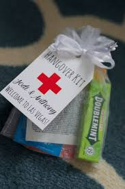 cheap wedding favor ideas customized hangover kit with goodies by izzybopdesigns on etsy