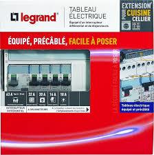 tableau electrique cuisine legrand leg93061 tableau électrique équipé spécial pour extension