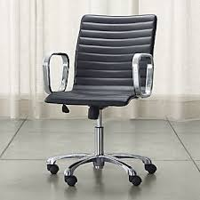 Leather Office Desk Chairs Leather Desk Chairs Crate And Barrel