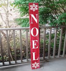 vertical outdoor sign front door decor noel christmas sign