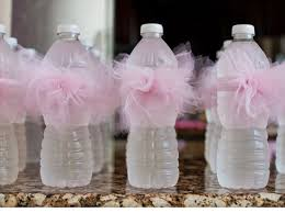 Diy Baby Shower Party Favors - pink tutu water bottles click pic for 35 diy baby shower ideas