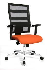 fauteuil de bureau orange fauteuil de bureau avec dossier confortable et coloré forli