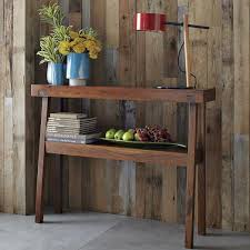 west elm entry table rustic acacia console west elm 48 w x 10 d x 36 h online only